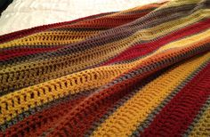 gorgeous handmade blanket by my friend Kandy - someday I'll try my hand at this! Cotton Saree Designs, Crochet Blankets, Kandi, Creative Inspiration, Squares, Handmade, Crocheted Blankets, Hand Made, Afghans