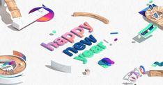 Mini-site événementiel pour souhaiter la nouvelle année. Par l'agence Makemepulse