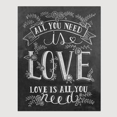 These 29 Love Quote Prints Are the Perfect Valentine's Day Gift