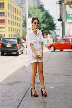 661231ae494 How to Wear a Men s Shirt Like a Fashion Girl