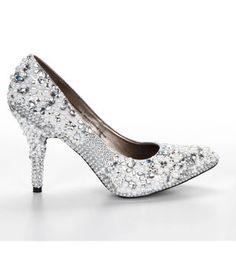 Pearl and Rhinestone Embellished Shoes