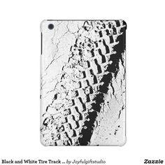 Black and White Tire Track Masculine iPad Mini Case