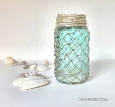 Decorative Fisherman Netting Wrapped Jars | Stow&TellU