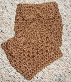 @KD Eustaquio Mosely these are very cute! ;)   Brown Boot Cuffs with a cute bow