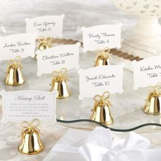 Get back to nature with these rustic wooden place card holders.
