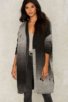 Freeze Out Oversized Cardigan - Sweaters