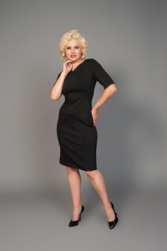Mikarose Alyssa Dress in Black | Pinup Girl Clothing
