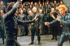 Why yes that is Patrick Stewart watching Sting try to kill Kyle Mcblahblah and yes, this film is called Dune.