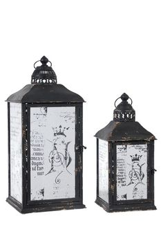 Metal Lanterns - Set of 2