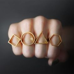 Geometric Silhouette Rings by OBJCTS
