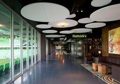 Sound absorption ceiling panel (acoustic cloud) - SOLO™ CIRCLE - Saint-Gobain Ecophon