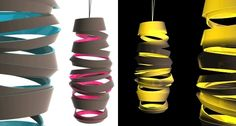 Curly Lamps, swirly designs by Dima Loginoff | mecho - the style black book