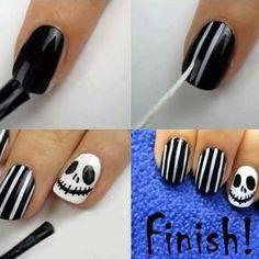 Nail Art DIY Nails Jack Skellington