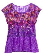 Lace Floral Top Justice for Girls Renaissance at Colony Park 601.853.4253 #shoprenaissance