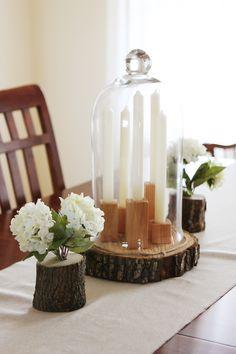 DIY rustic spring centerpiece (via kellyhicksdesign) Diy Candle Centerpieces, Diy Candles, Christmas Centrepieces, Candle Wax, Do It Yourself Inspiration, Decor Inspiration, Decor Crafts, Diy Crafts, Home Decor