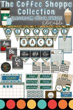 When it comes to classroom decorations, there are a LATTE options for teachers to choose from. This coffee themed bundle is FULL of back to school essentials for teachers to print and personalize their classroom! Click here to check out this brand new bundle of classroom decor and see how you can easily have the cutest classroom on your campus! ☕ #classroomdecor #classroommanagement #backtoschool #coffee #classroom #organization #mrsaverysisland