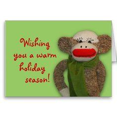 Cozy Sock Monkey Card