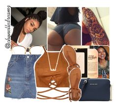 """""""all i need is a little loving tonight. all i need is a little love in the dark"""" by chynelledreamz ❤ liked on Polyvore featuring philosophy, Yves Saint Laurent, Linda Farrow, Topshop, Aéropostale, MICHAEL Michael Kors and Sydney Evan"""