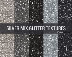 FREE DOWNLOAD! Mixed Silver Glitter Textures by SonyaDeHart on Creative Market