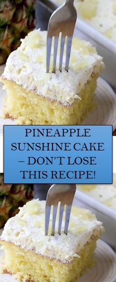 Just Desserts, Delicious Desserts, Yummy Food, Baking Recipes, Cake Recipes, Dessert Recipes, Cupcakes, Cupcake Cakes, Pineapple Desserts