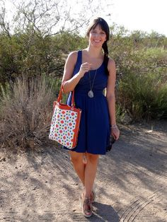 Blue #Dress + RUBY South Africa #Crystal #Necklaces [& a #Giveaway!]