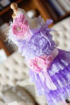 Lavender & Pink Lace Dress Gift Set
