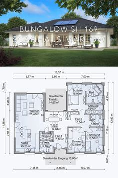 Modern Architecture One Story House Plans Blueprint - Design Rendering Bungalow SH 169 - Single Story Dream Home Styles & Layout Inspiration Photograp. , Modern Architecture House Plan & Interior Design - One Story Bungalow SH 169 House Plans One Story, One Story Homes, Dream House Plans, Modern House Plans, House Plans With Pool, Micro House Plans, One Floor House Plans, Split Level House Plans, 1 Story House