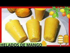 DELICIOSOS HELADOS CASEROS CREMOSOS DE MANGO/ COMO HACER HELADOS DE MANGO CASEROS/ - YouTube Mango Ice Cream, Drinks Alcohol Recipes, Pina Colada, Pretzel Bites, Popsicles, Crepes, Frozen, Bread, Snacks