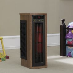 Add some extra warmth to your family room, bedroom, or office with the Duraflame Portable Electric Infrared Quartz Oscillating Tower Heater . Tall Cabinet Storage, Locker Storage, Tower Heater, Fire Prevention, Troy Lighting, Entertainment Furniture, Appliance Repair, Heating And Cooling, Wood Veneer