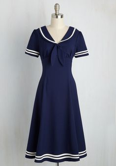 Flirts Mate Dress. Youre the captain of cruising through style discovery, and youve appointed this navy dress as your second in command! #blue #modcloth