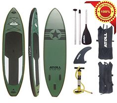 """Atoll 11'0"""" Foot Inflatable Stand up Paddle Board, (6 Inches Thick ) Isup, Bravo Hand Pump and 3 Piece Paddle, Travel Backpack Atoll Paddle http://www.amazon.com/dp/B00YI1F92Q/ref=cm_sw_r_pi_dp_0Bl7wb0KCHJBE"""