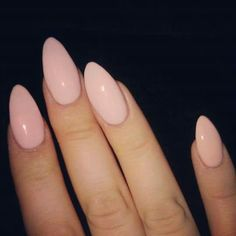 Almond Nails are goals baby! Almost all almond nails are acrylic nails or fake n. - Almond Nails are goals baby! Almost all almond nails are acrylic nails or fake nails but every once - Love Nails, How To Do Nails, Pretty Nails, My Nails, Almond Nails Designs, Nail Designs, Almond Acrylic Nails, Almond Nails Pink, Baby Pink Nails Acrylic