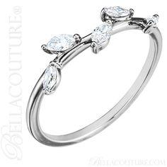BELLA COUTURE ® - (NEW) BELLA COUTURE De VINE Fine Marquise Diamond 14K White Gold Ring Band (1/3 CT. TW.), $650.00 (http://www.bellacouture.com/new-bella-couture-de-vine-fine-marquise-diamond-14k-white-gold-ring-band-1-3-ct-tw/)