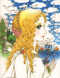 現貨 原版 高橋真琴 原畫卡 海報 希臘的少女-淘宝网全球站