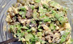 Salad of chicken liver.