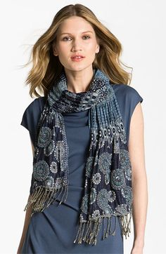 Lafayette 148 New York Embellished Woven Scarf available at #Nordstrom