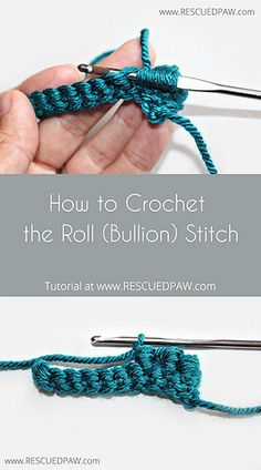 How to crochet the roll stitch.. Free tutorial!