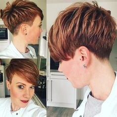 Best Short Layered Pixie Cut Ideas 2019 - The UnderCut Best Short Layered Pixie Cut Ideas In every period of rapidly changing hair trends, short pixie cuts can be an excellent experience Short Pixie Haircuts, Short Hair Cuts, Short Hair Styles, Pixie Cuts, Great Hairstyles, Pixie Hairstyles, Ladies Hairstyles, Shaved Hairstyles, Undercut Hairstyles