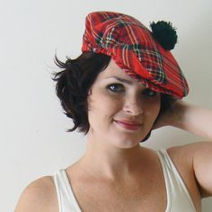 plaid .vintage. (Scottish) hat