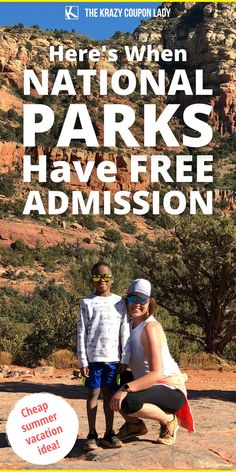 Looking for a cheap summer vacation or inexpensive road trip to get your kids out in nature? How about a free visit to one of the 400+ National Parks in the US? A few times a year, the U.S. Department of the Interior makes it free for everyone to enter at all of the National Parks. Plan to get your kids out into nature and see the country this summer and get in for free. Mark your calendars for the various free admission days- The Krazy Coupon Lady has the travel tips & hacks you need! Last Minute Travel, Coupon Lady, Free Admission, Park Service, Free Things To Do, Plan Your Trip, Money Saving Tips, Road Trips, Summer Fun