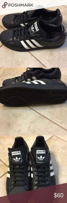 reputable site 9f930 dc133 Shop Men s adidas Black White size 11 Athletic Shoes at a discounted price  at Poshmark.