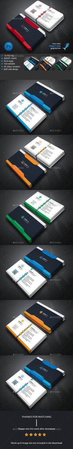 Business Card Bundle Templates PSD #design Download: http://graphicriver.net/item/business-card-bundle/13941709?ref=ksioks