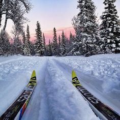Although it may not be speedy, cross-country skiing will tone your entire body, give you a great cardio workout, and burn almost 500 calories in one hour! Before you get going, consider these beginner tips and take a lesson to avoid injury. Source: Instagram user mattiasfredrikssonphotography