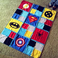 Superhero blanket. This is adorable!!!!!!!!!!