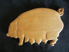 Cutting Board In The Shape Of A Pig