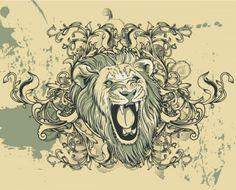 Vintage Lion Illustration