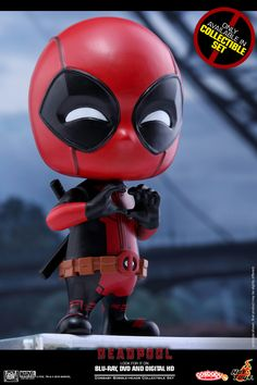 Hot Toys continues fulfilling our need to superhero collectibles.this time around it's from the surprise smash hit Deadpool film license. They've expanded their Deadpool Cosbaby with five more tall bobble-head collectibles. Cute Deadpool, Deadpool Chibi, Marvel Vs, Marvel Dc Comics, Dead Pool, God Of War, Overwatch, Avengers Cartoon, Avengers Series