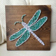 Dragonfly string art - Order from KiwiStrings on Etsy ( www.KiwiStrings.etsy.com )
