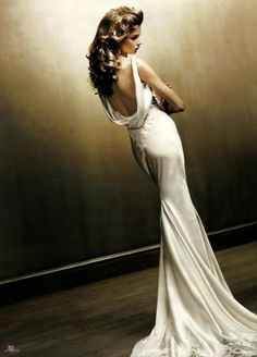 White low back dress