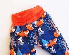 NIGHTFOX Boy Girl Harem Pants pattern Pdf sewing Knit by PUPERITA